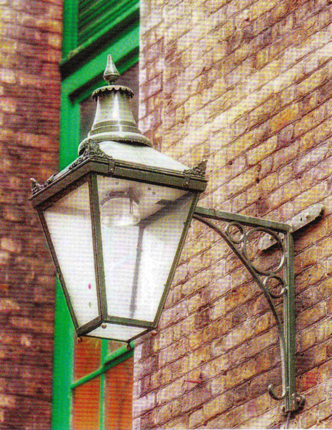 Example of a finished Seven Dials lantern in situ.