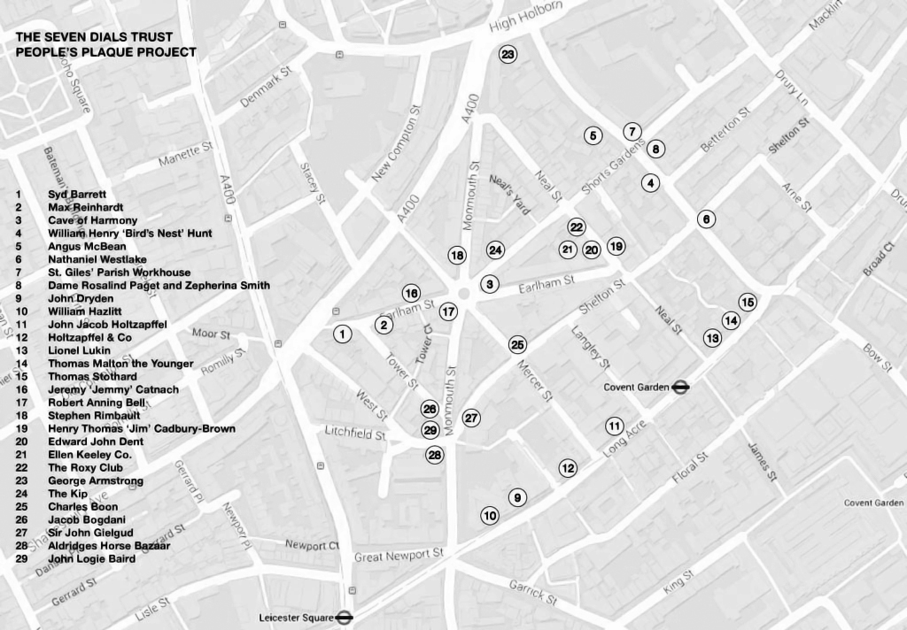 Map showing People's Plaques Locations.