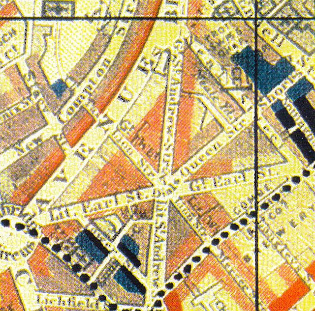1889 Charles Booth's Seven Dials poverty map.