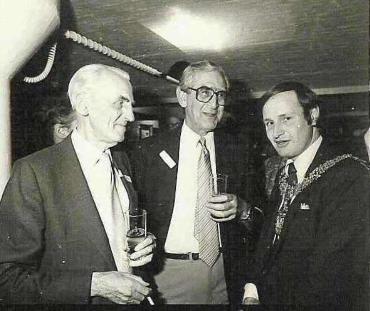 Founder trustee, Sir Jon Summerson, with comedian and writer Dennis Norden and Mayor of Camden
