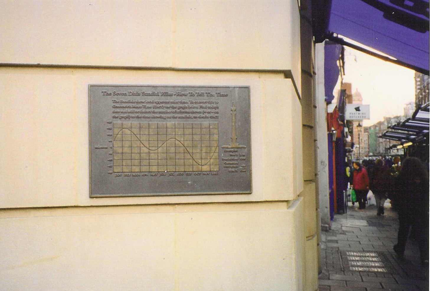 The Time Plaque sponsored by musician Dave Stewart