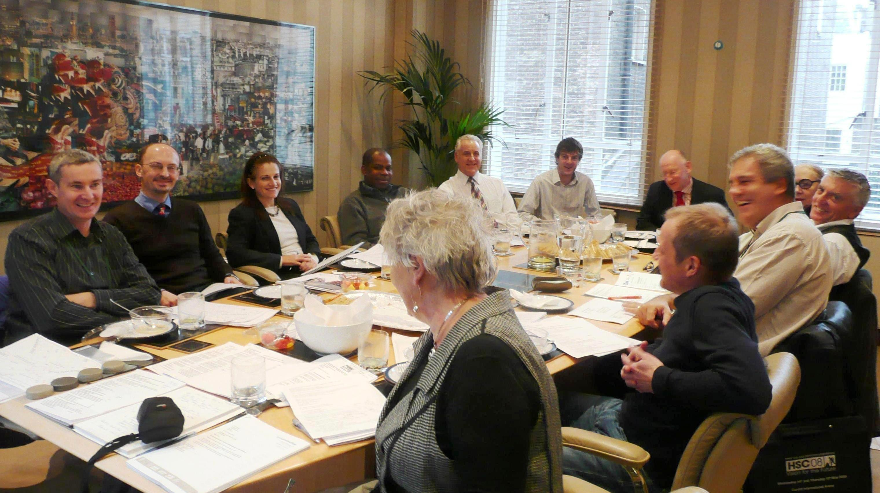 2005: Westminster City Council's Chris Mason gives a talk on carriage-way treatments to the Environment Committee.