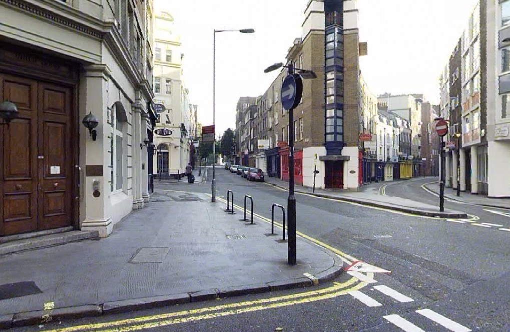Monmouth Street South and Shelton Street before works.