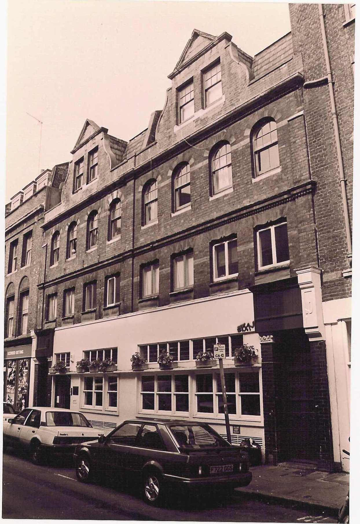 3-5 Earlham Street before restoration, c.1990.