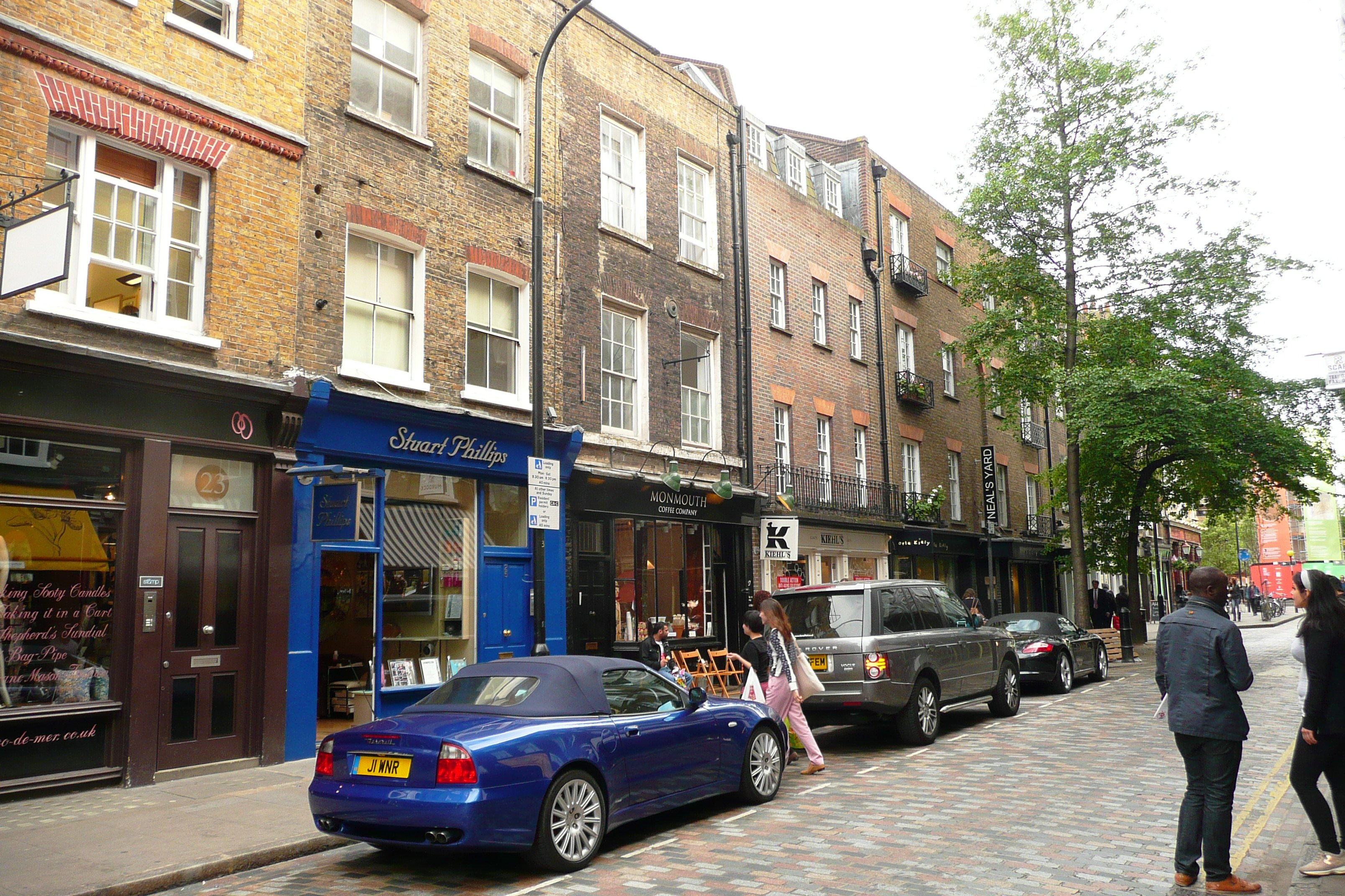 Monmouth Street north shopfronts restored by Marler Estates and Shaftesbury PLC.