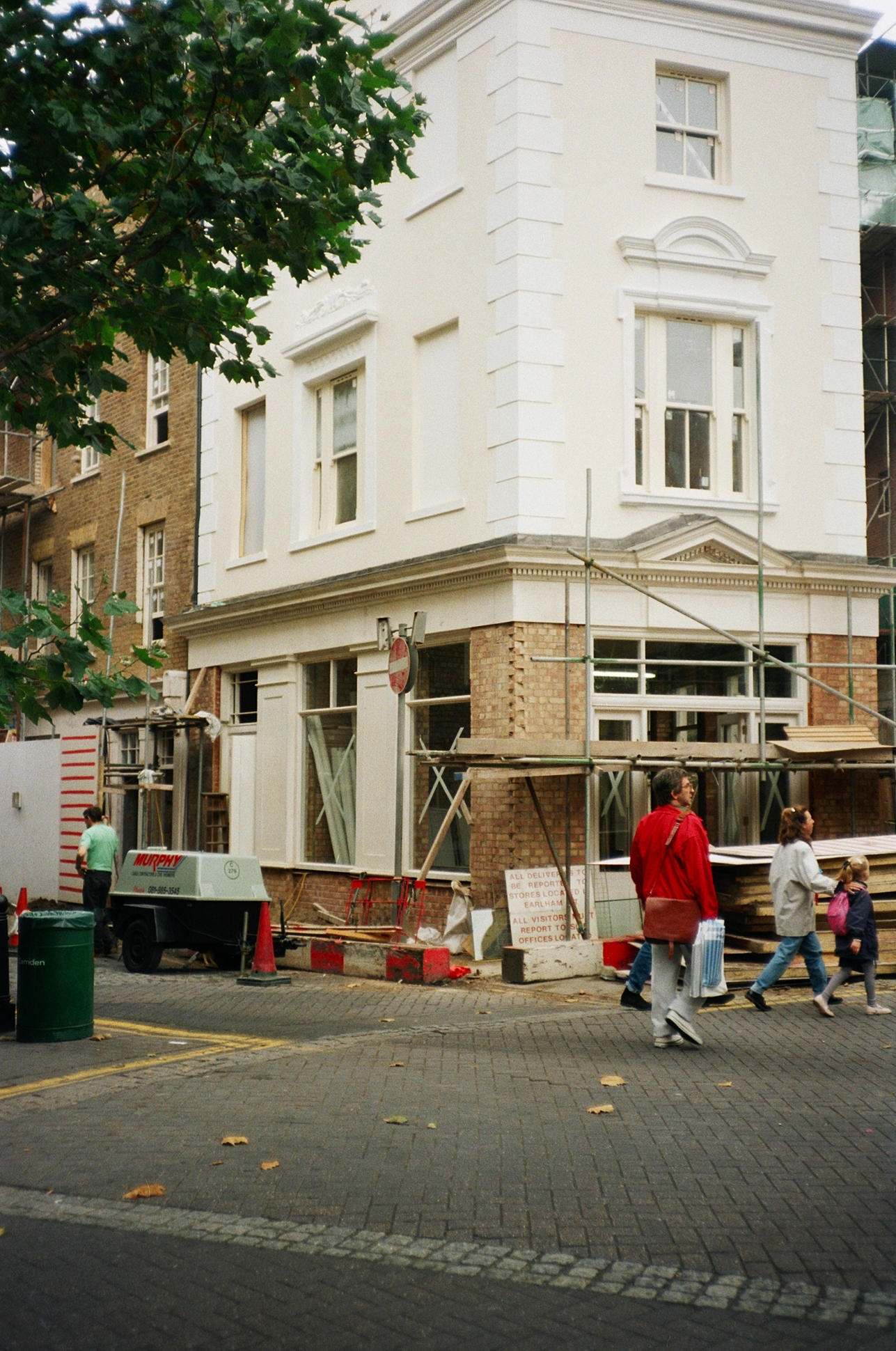 Building formerly The Grapes public house on The Dials being restored.