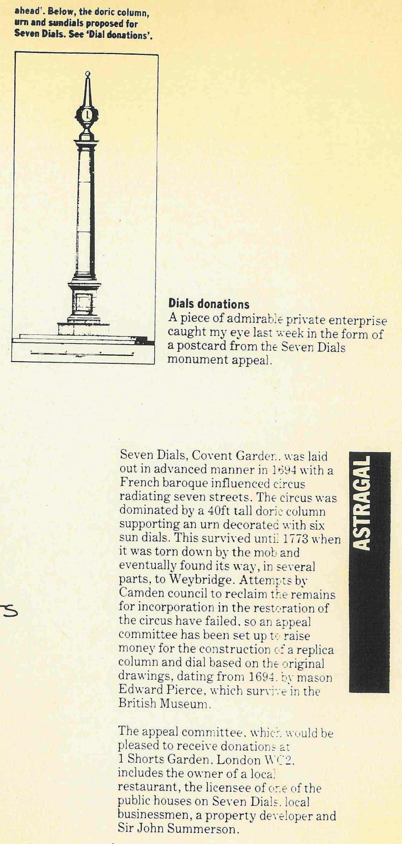 31 July 1985 � Architects Journal: A piece of admirable private enterprise�