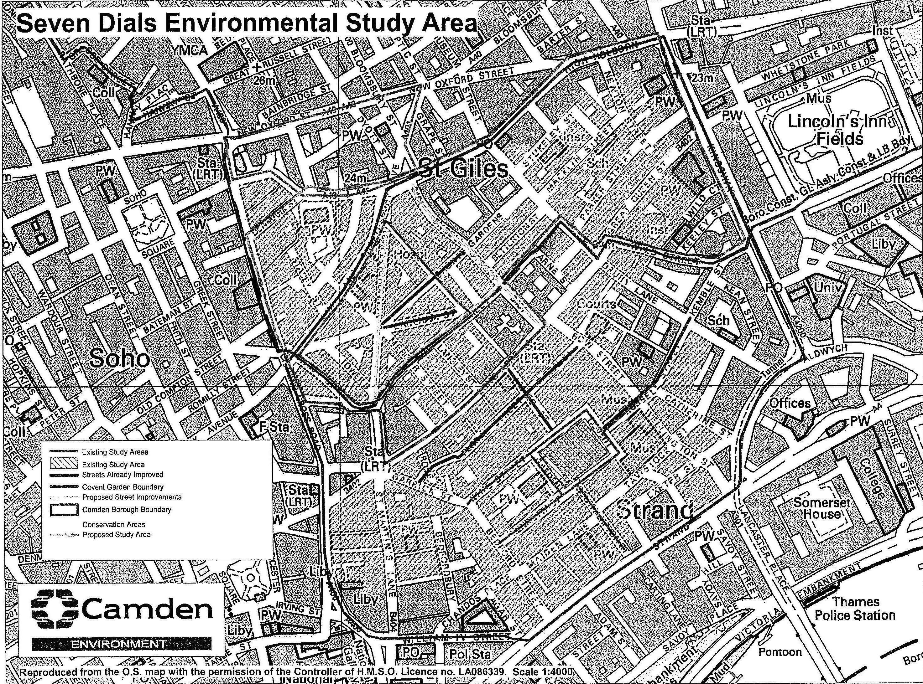 The Study area map 1987
