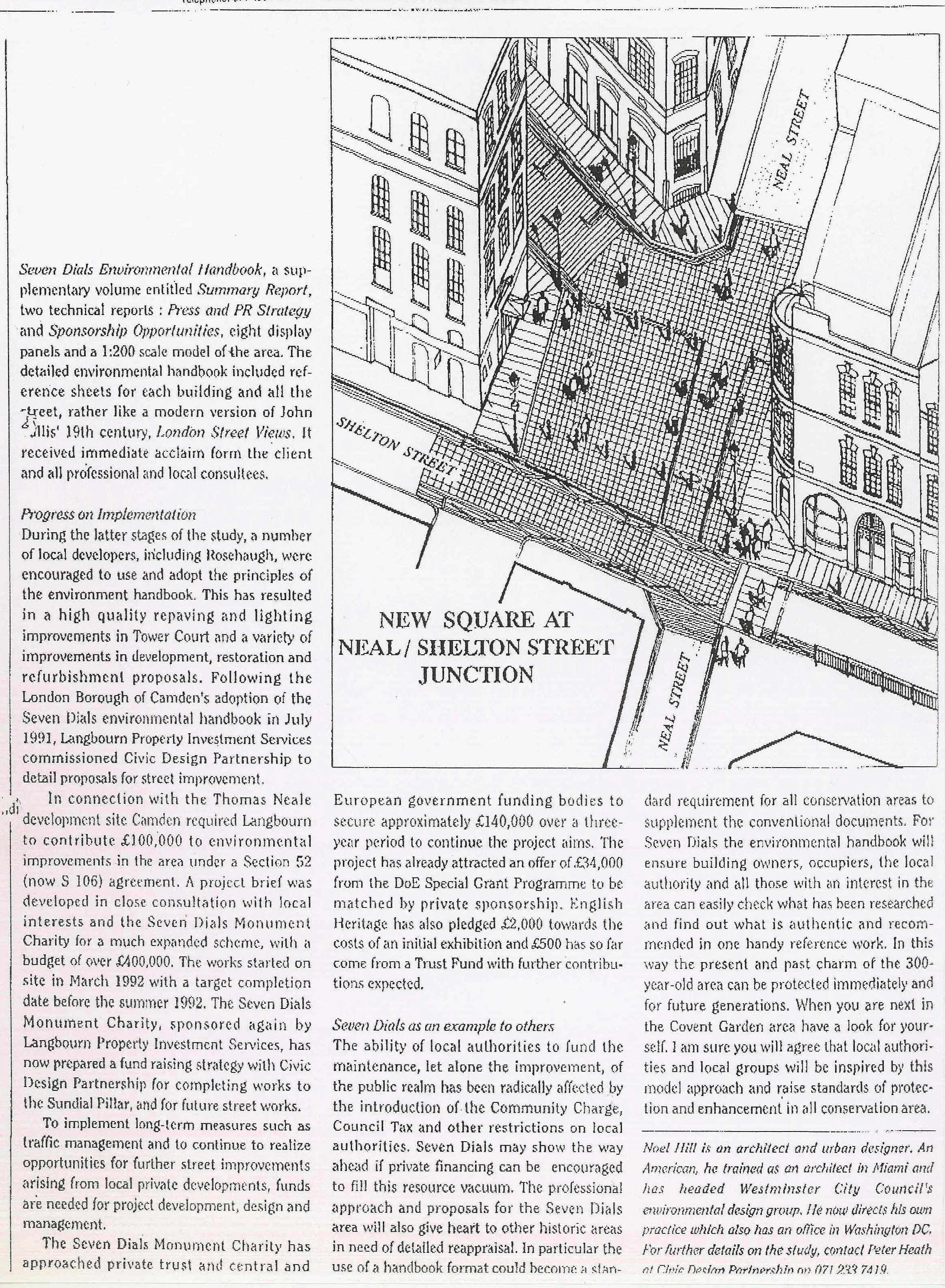Feature article in Urban Design, May 1992