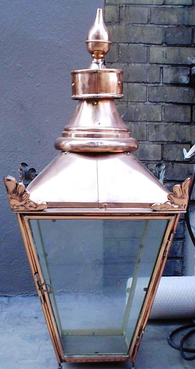 "17"" late nineteenth century lantern, manufactured by Sugg."