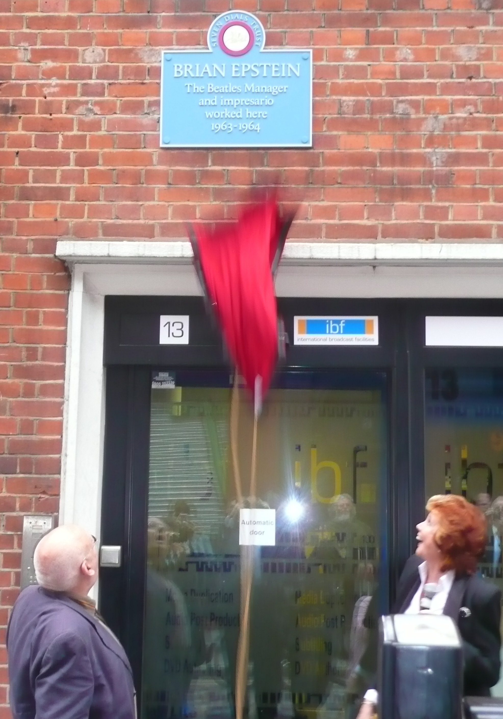 Brian Epstein Plaque unveiled by Cilla Black 2009.