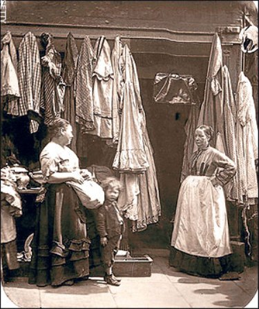 1877 clothes shop in what is now Tower Court.