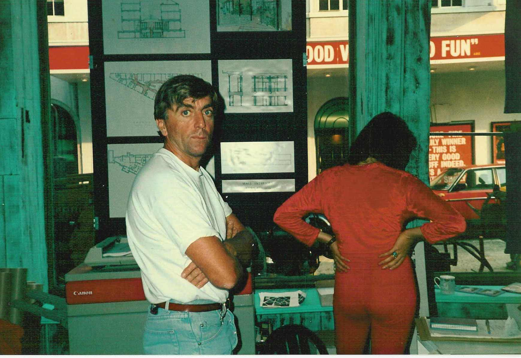 Trustee Paul Draper in the shop which he designed and built.