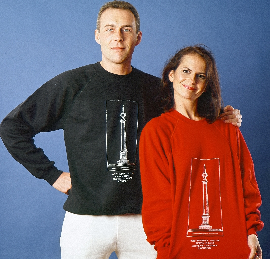 His and hers Pillar Sweatshirts.