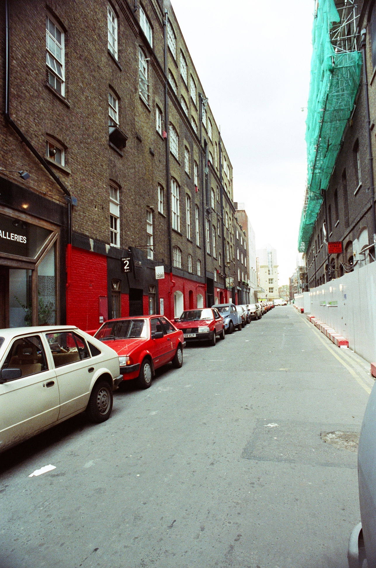 Earlham Street east, before street improvement works.