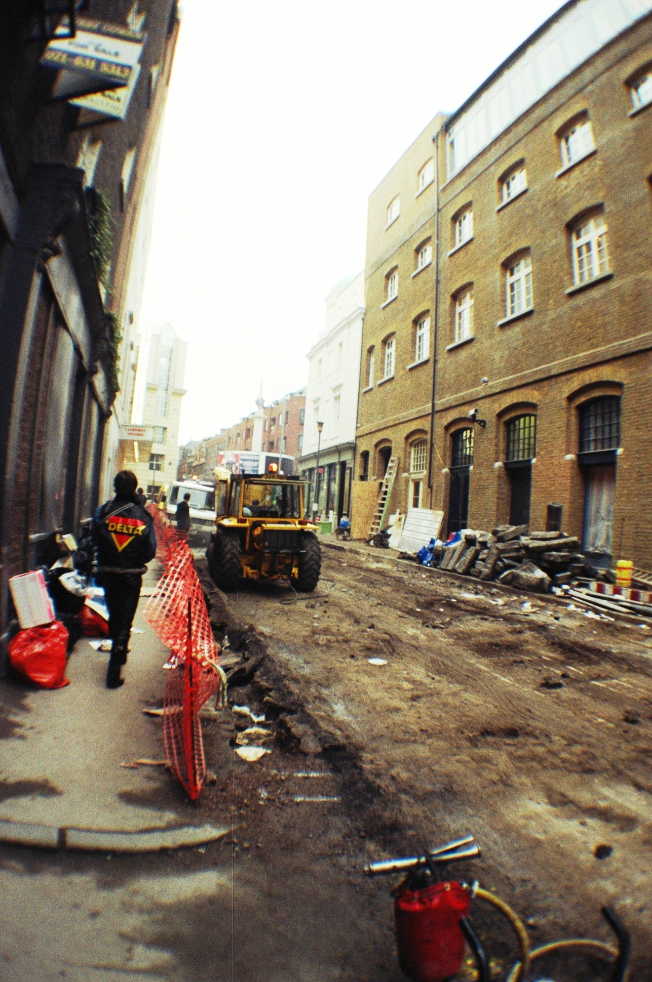 Earlham Street east skimmed.