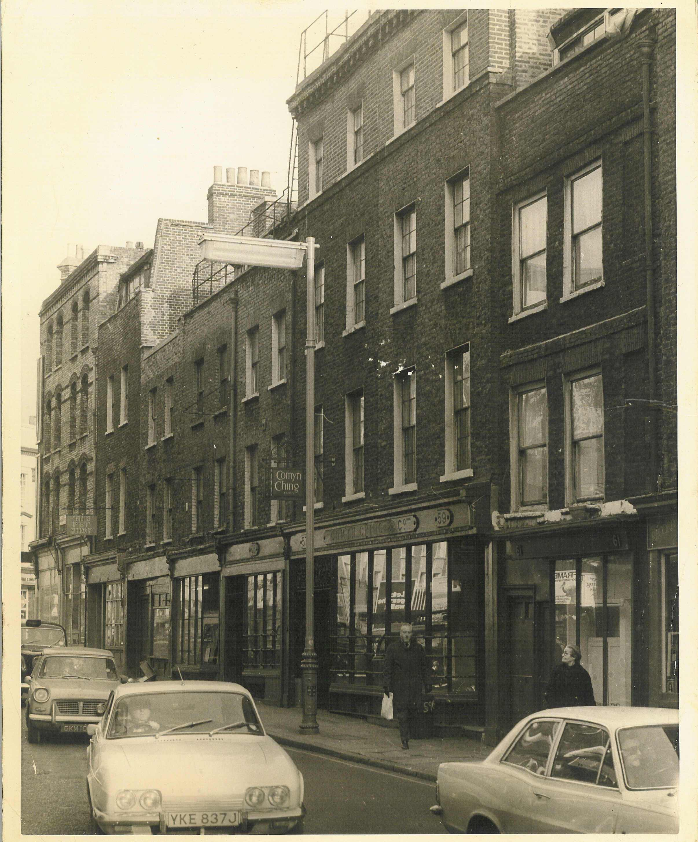 45-63 Monmouth Street, before restoration by Terry Farrell & Partners.
