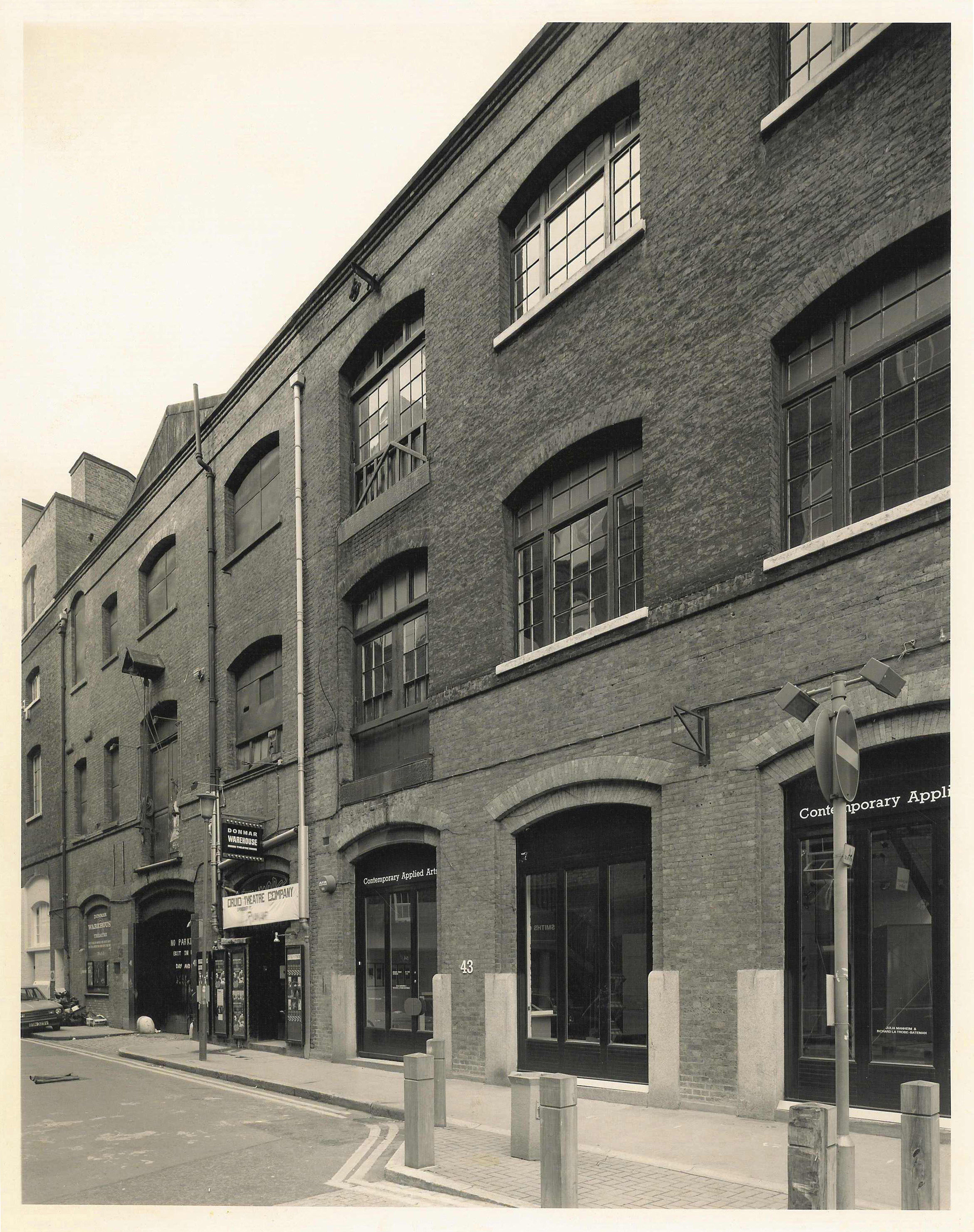 Earlham Street, Donmar Theatre 1987, restored by the Kleinwort Benson Property Fund.