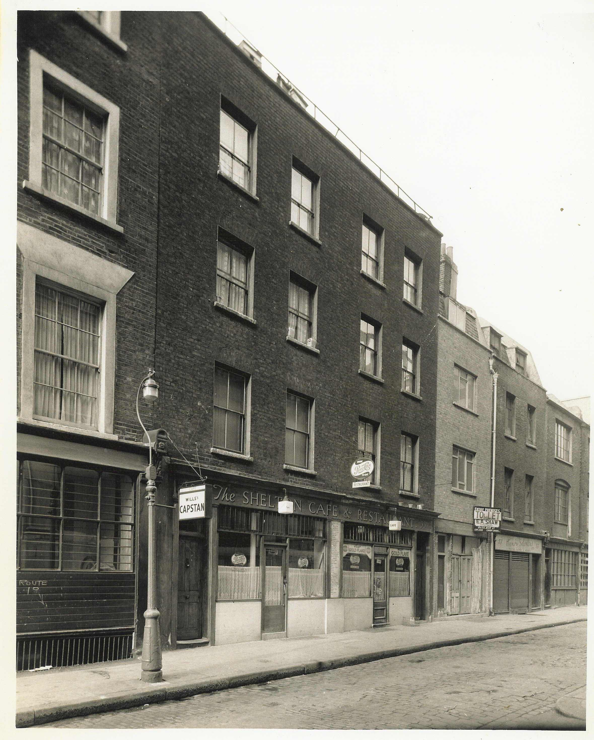Shelton Street c. 1950, part of the Comyn Ching Triangle.