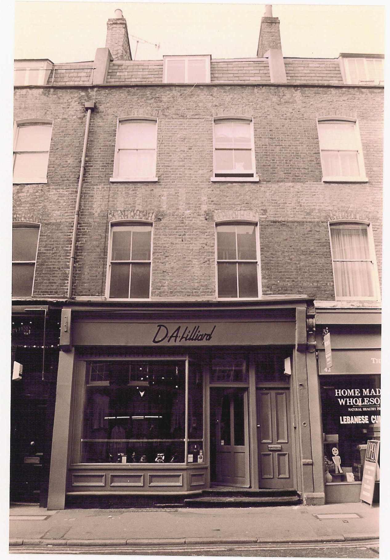 44 Monmouth Street c 1990, before restoration.