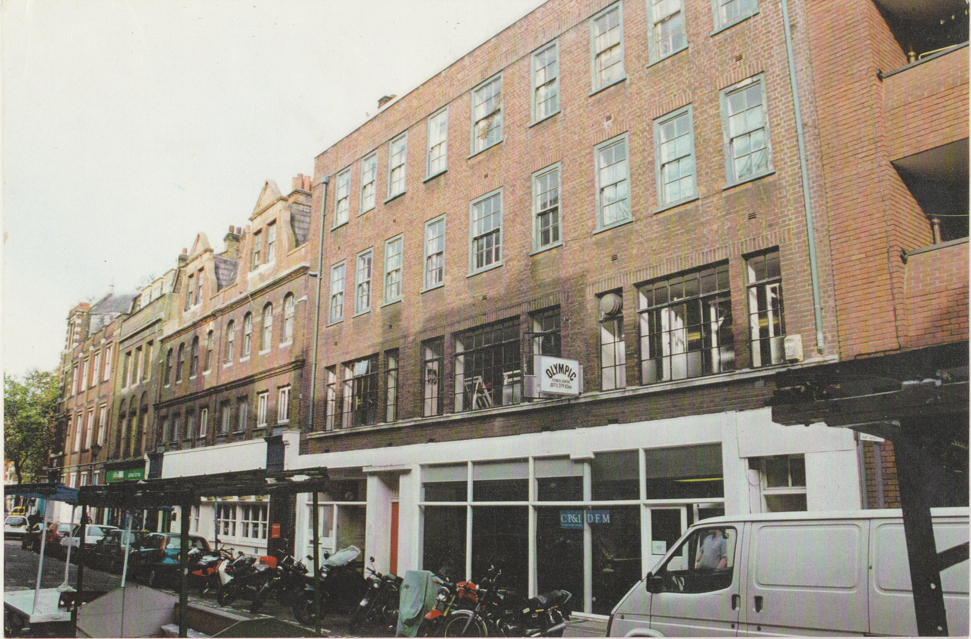 Earlham Street west facades before restoration by Shaftesbury PLC.