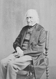 Charles Knight 1860s. A CDV photograph of Charles Knight in old age, circa 1865 by London photographer Ernest Edwards (1837-1903)