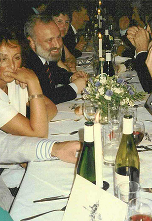 Frank Dobson MP at our Seven Dials Monument Unveiling and Foundation 17th Century Dinner 1989