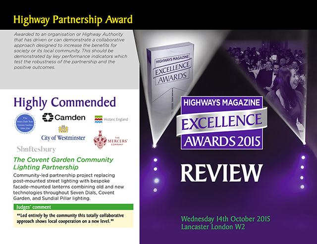 Highways Magazine Excellence Awards 2015 Review of Seven Dials Trust entry