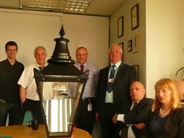 Camden, Westminster, the Corporation of London & the Trust reviewing the V3 lantern prototype