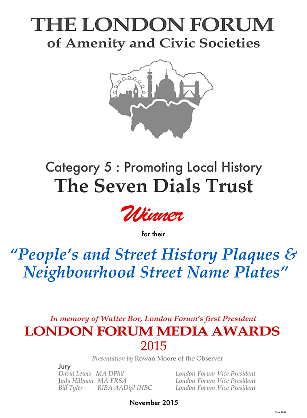 Trust recognised at the prestigious London Forum Awards 2015