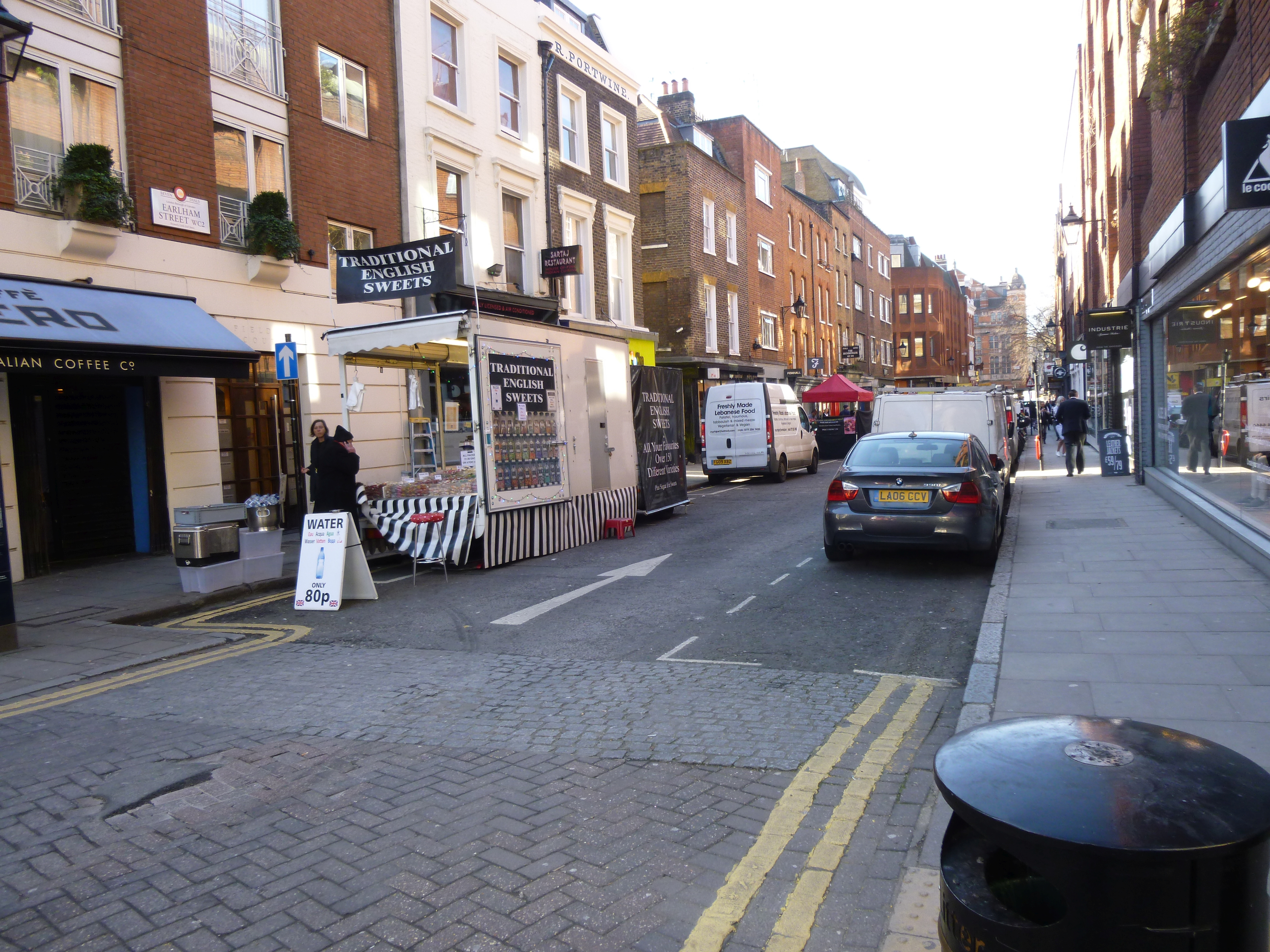 Earlham Street West before the works