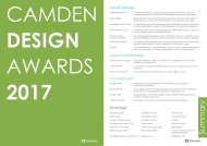 Camden Design Awards 2017 Summary