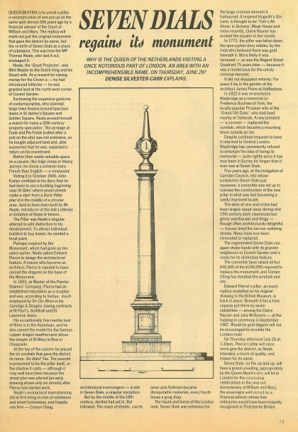 1989—Seven Dials regains its monument
