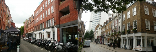 Earlham Street West (L) and Monmouth Street South (R) proposed for demolition by P&O Properties.