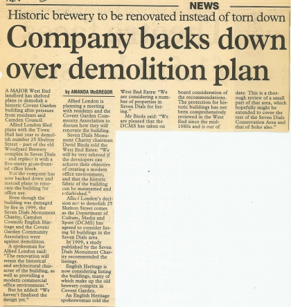 2002—Saving Historic West End Brewery