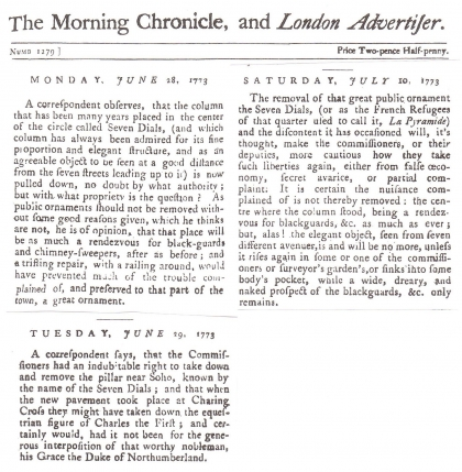 1773—The Morning Chronicle