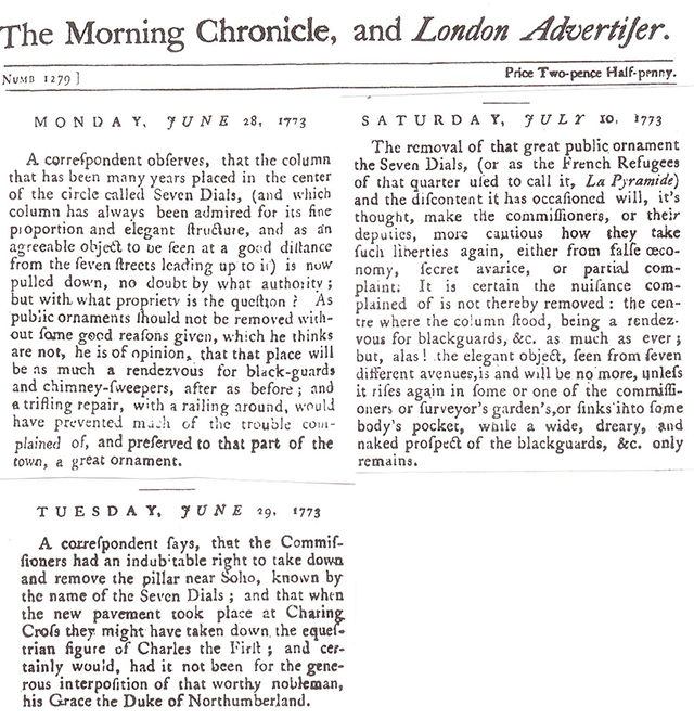 1773 The Morning Chronicle and London Advertiser