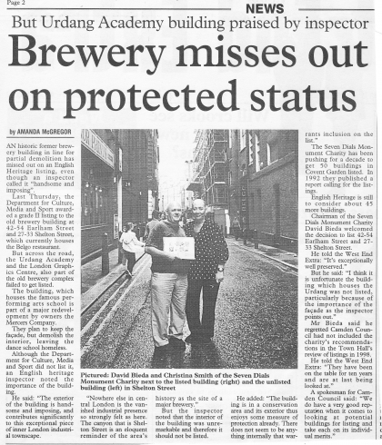 2002—Brewery misses out on protected status