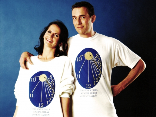 His and hers T-shirts and Sweatshirts with Dial Face prints.