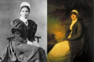 Left: Dame Rosalind Paget (1855-1948). Right: Zepherina Veitch (1836-1894)